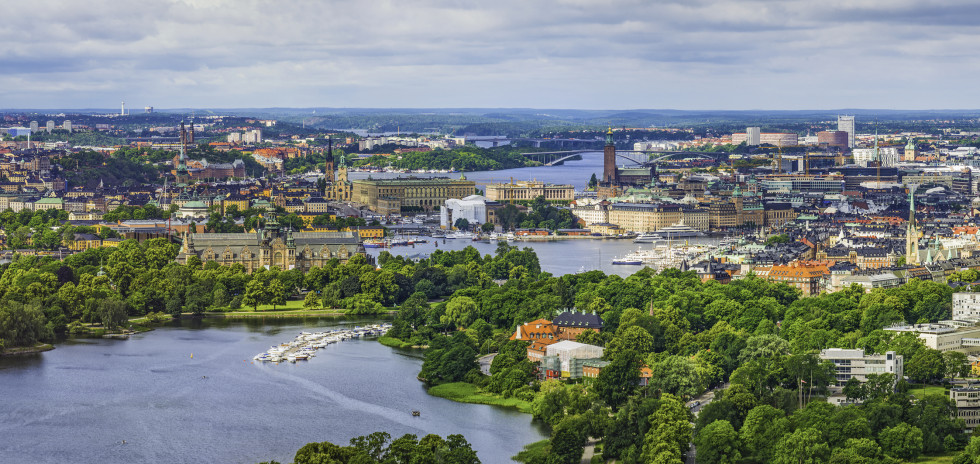Panoramablick auf Stockholm