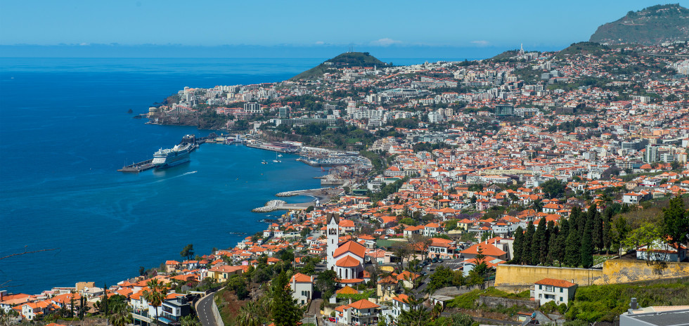 Panoramablick auf Funchal