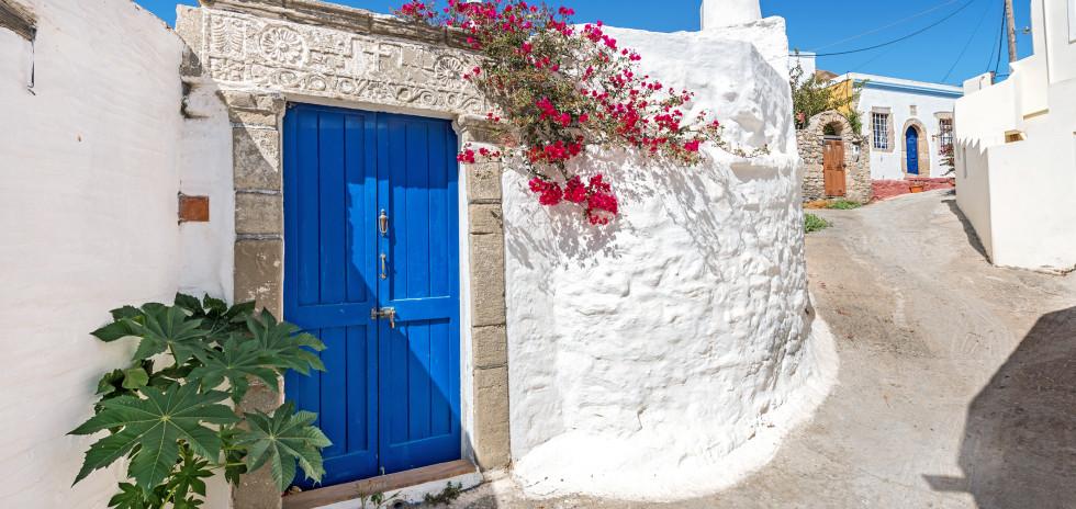 Lachania mit seinen typisch weissen Häusern