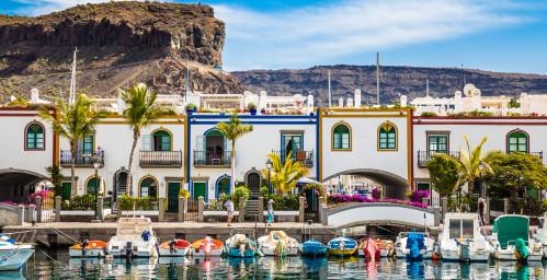 Puerto de Mogan avec ses maisons blanches typiques