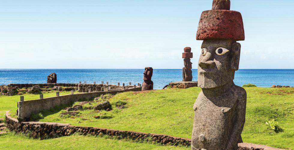 Les Moaï, île de Pâques