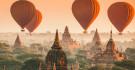 Montgolfières survolant Bagan