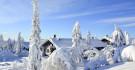 Cabane de rondins en Laponie finlandaise