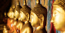 Statues du bouddha dorées, Bangkok