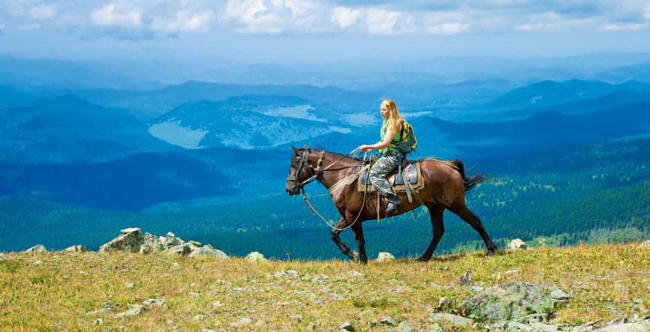 Bild 1 - Reiterlebnis in den sibirischen Wäldern
