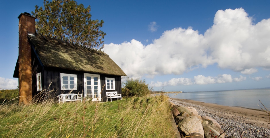 Traditionelles Strandhaus
