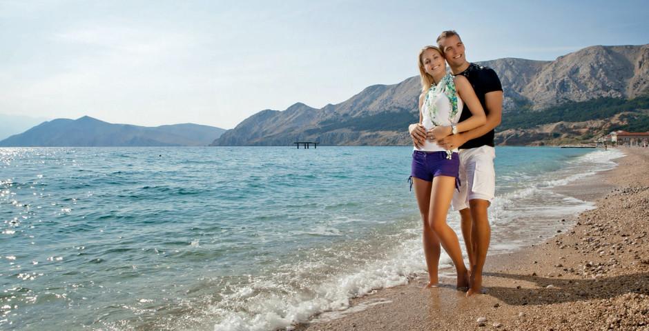 Krk: Strände für Badeferien - Kroatien