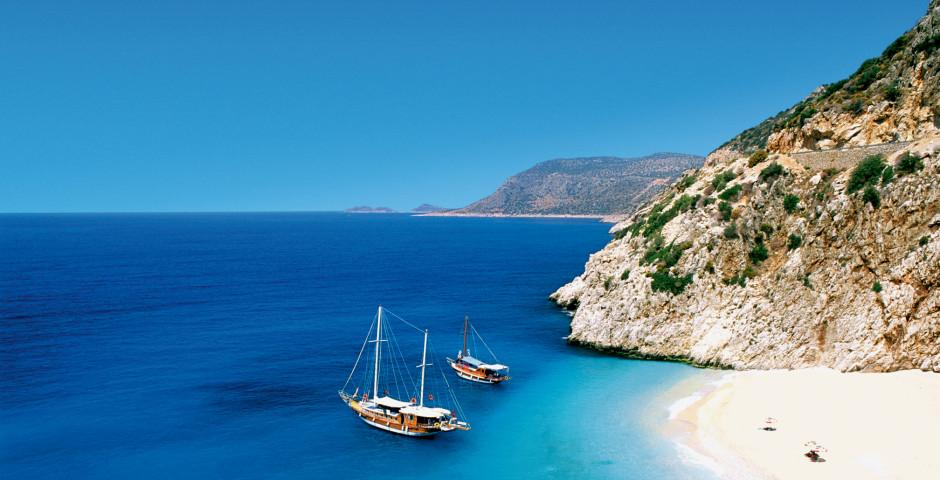 Kaputaş-Strand in Kas, Antalya - Türkei - Türkei
