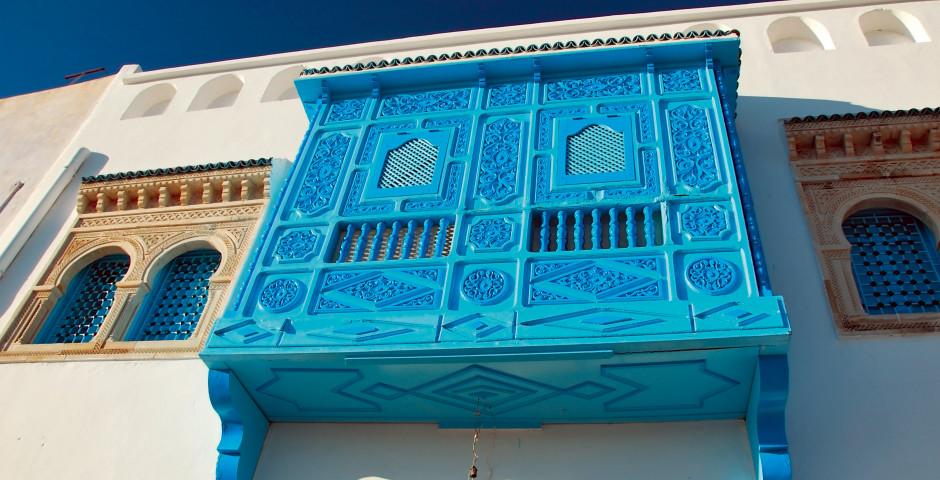 Typische blaue Fenster