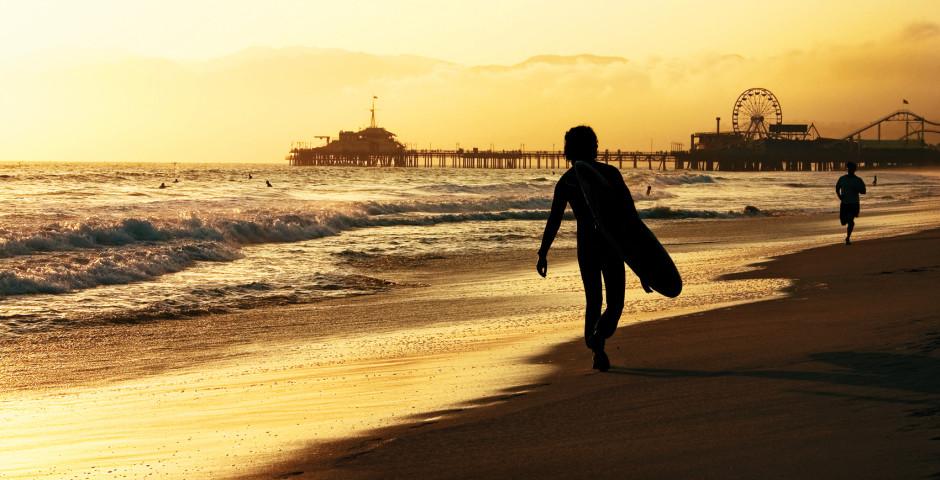 Surfer am Venice Beach, Los Angeles