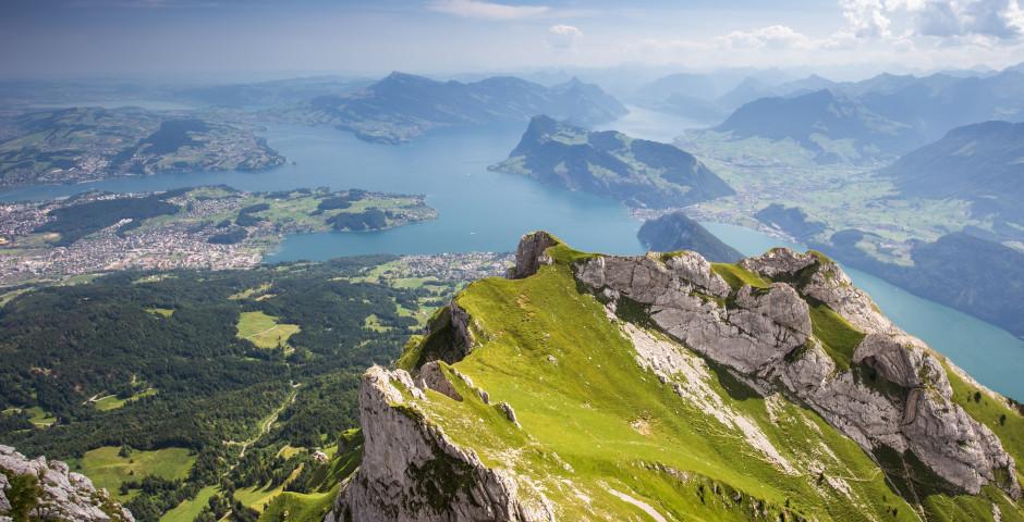Aussicht auf den Vierwaldstättersee - Zentralschweiz