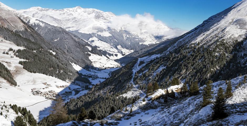 Aussicht vom Hintertuxer Gletscher, Zillertal