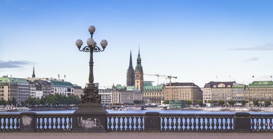 Binnenalster, Lombardbrücke - Hamburg