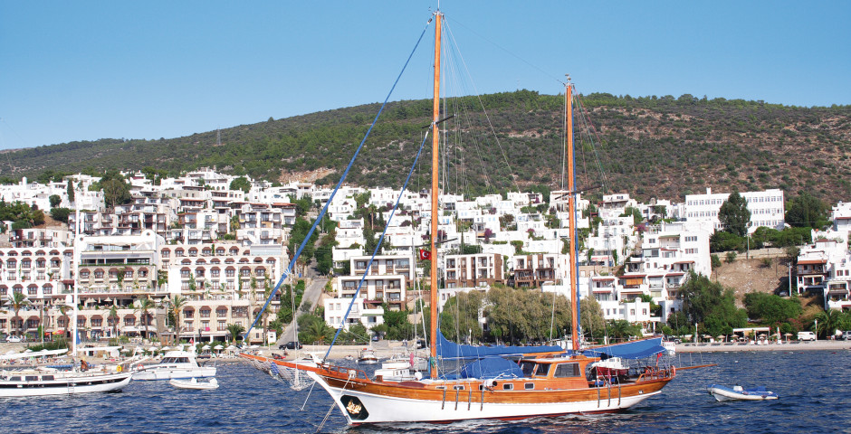 Segelschiff vor Bodrum