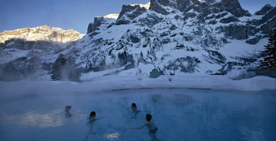 Lindner Alpentherme, © Leukerbad Tourismus - Oberwallis