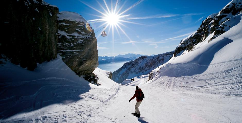 Snowboarden in Crans-Montana