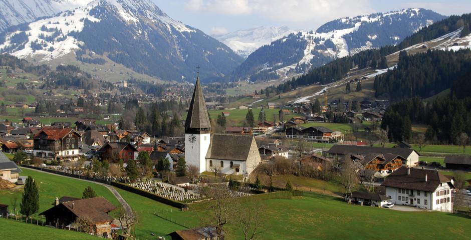 Gstaad vue d'en haut - Saanenland