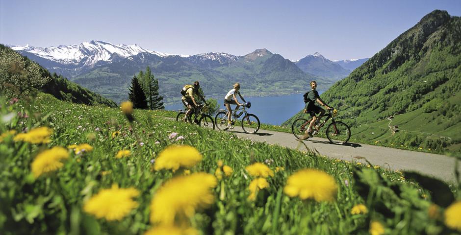 Velofahren in Luzern © Luzern Tourismus - Vierwaldstättersee