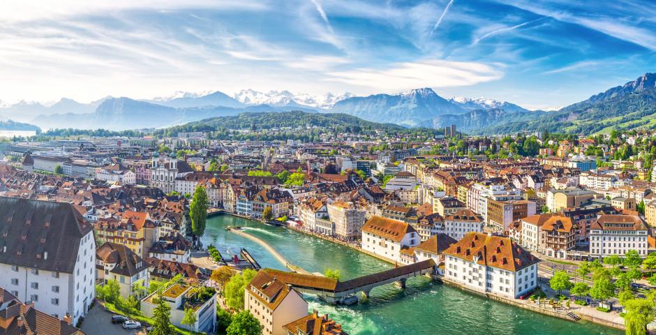 Sicht auf Luzern - Vierwaldstättersee