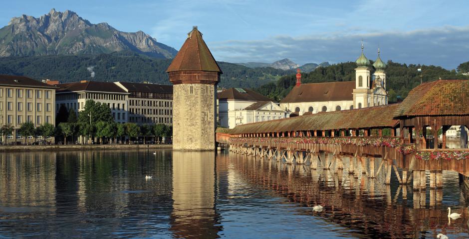 Pont de la Chapelle de Lucerne (Kapellbrücke) - Lac des Quatre-Cantons