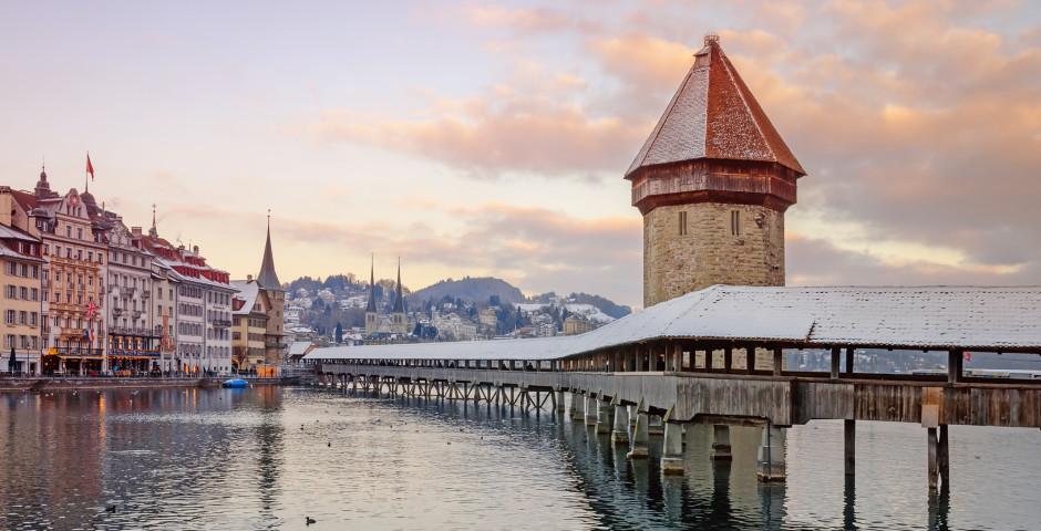Lucerne en hiver - Lac des Quatre-Cantons