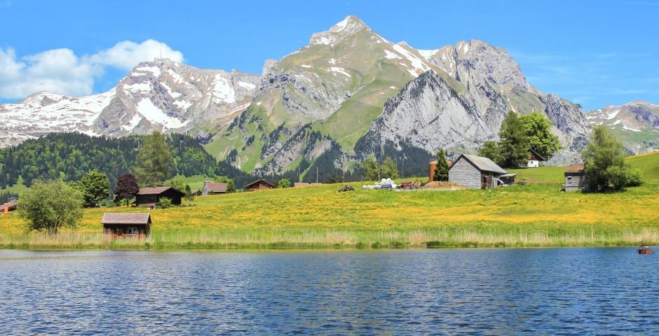 Vue sur Lac de Schwendi et Säntis - Toggenbourg