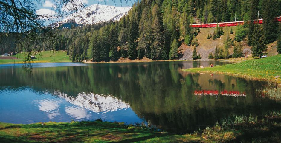 Rhätische Bahn, Davos Laret © Destination Davos-Klosters - Davos-Klosters