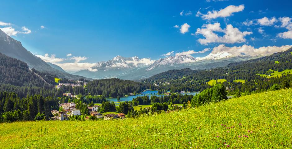 Sicht auf den Heidsee - Lenzerheide-Valbella