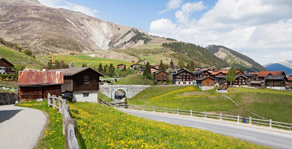 Das Dorf Sedrun - Disentis Sedrun