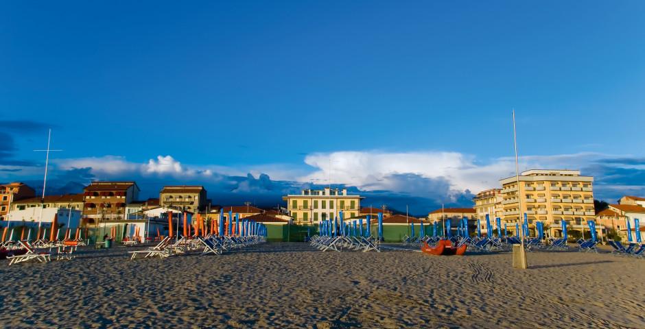 Strand von Viareggio