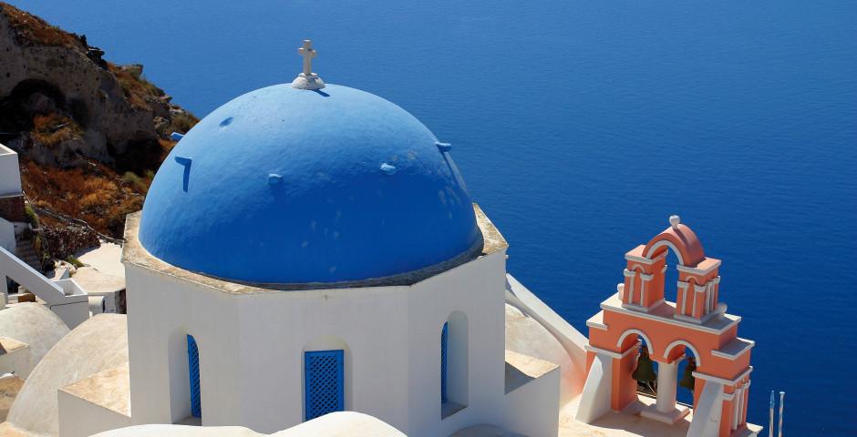 Weisse Häuser, blaue Kuppeln - Santorini