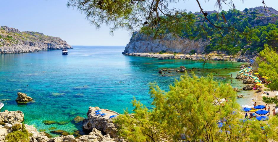 Baie fantastique de Anthony Quinn à Faliraki - Rhodes