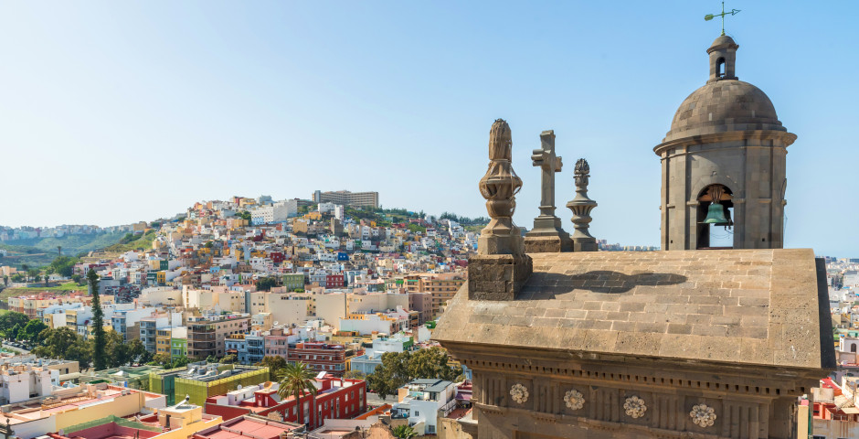 Blick auf die historische Stadt - Gran Canaria