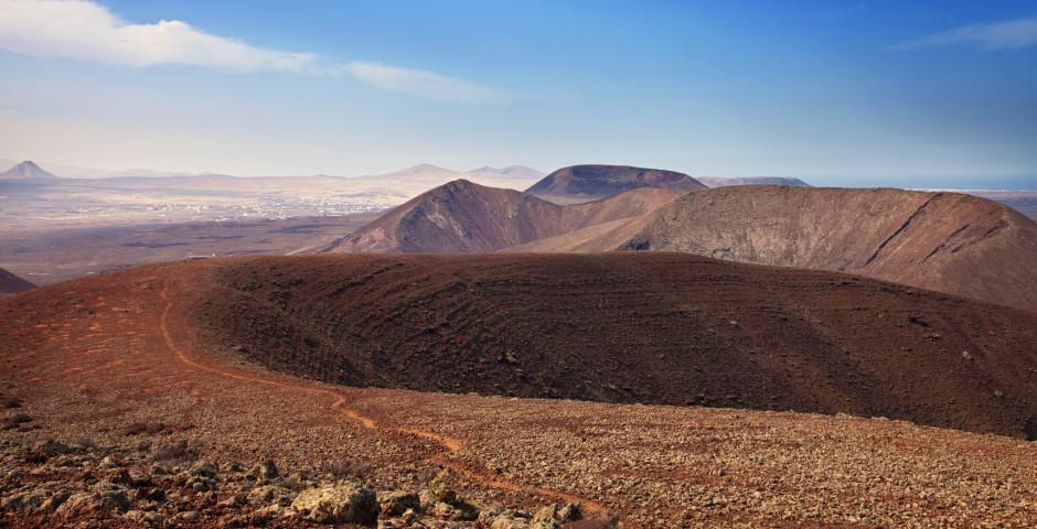 Blick vom Vulkan Bayuyo nach Lajares - Fuerteventura