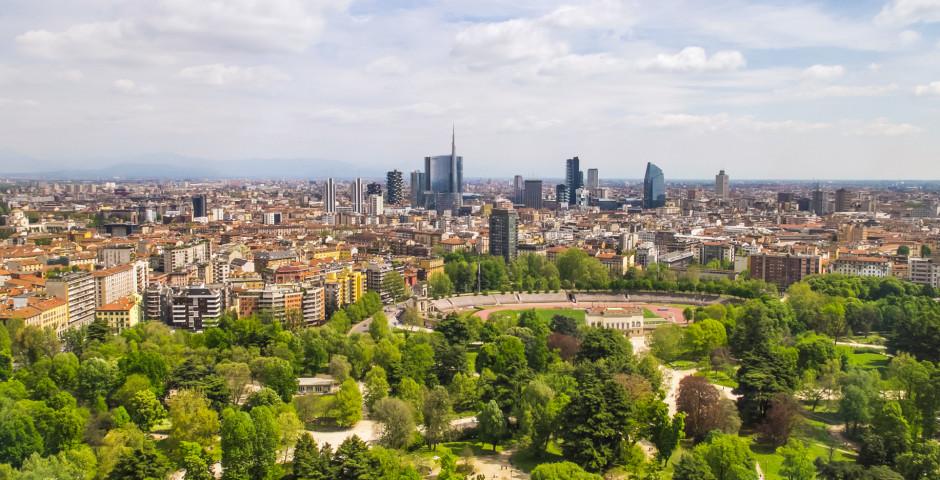 Aussicht vom Branca-Turm - Mailand