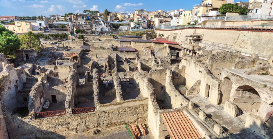 Reste der antiken Stadt Herculaneum - Golf von Neapel
