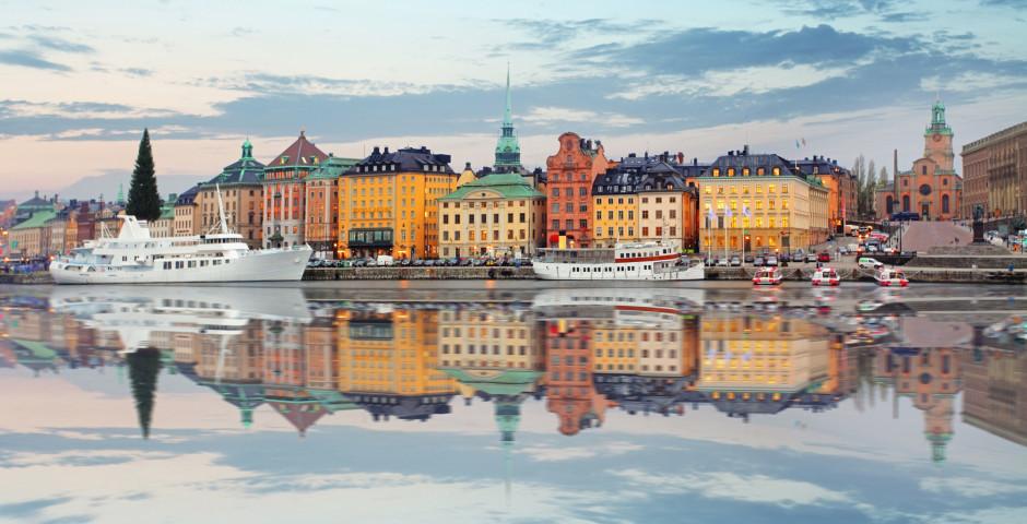 Blick auf die Altstadt - Stockholm