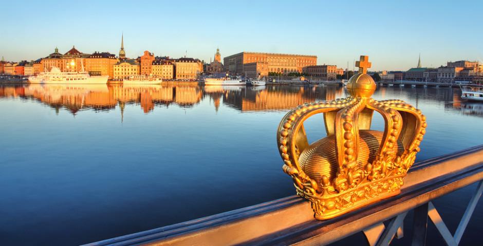 Blick auf Schwedens Hauptstadt - Stockholm