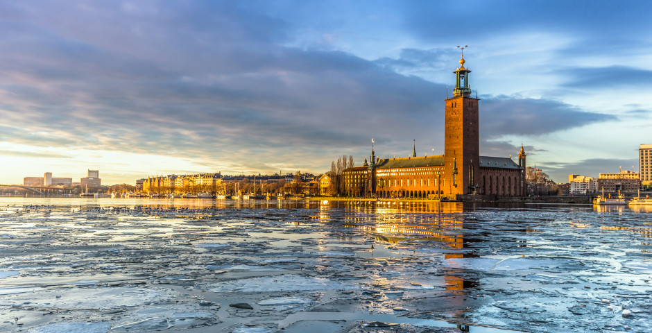 Rathaus im Winter - Stockholm
