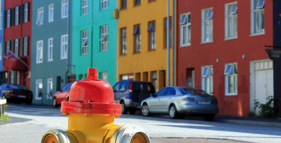 Bâtiments colorés