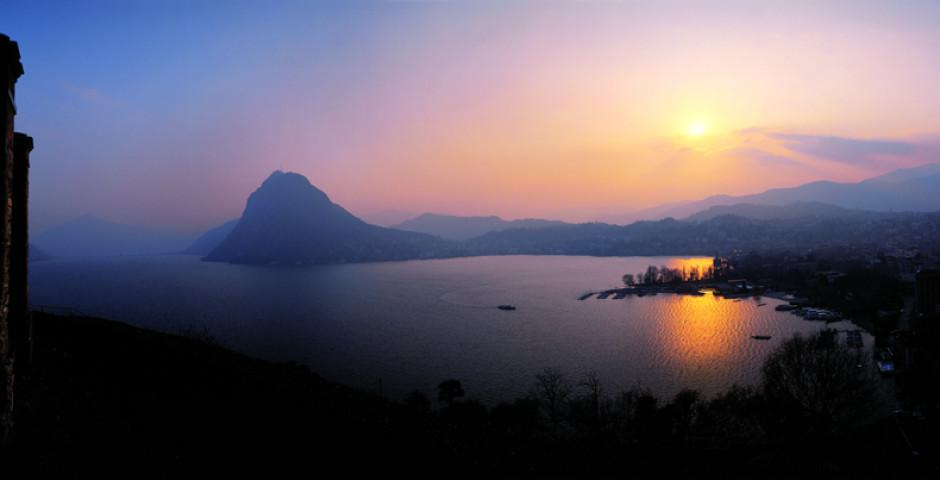 Sonnenuntergang - Lago di Lugano (Italienische Seite)