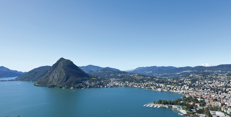Luftaufnahme - Lago di Lugano (Italienische Seite)