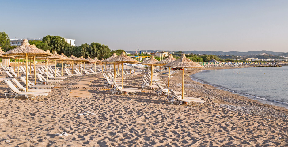 Plage populaire Kolymbia Beach