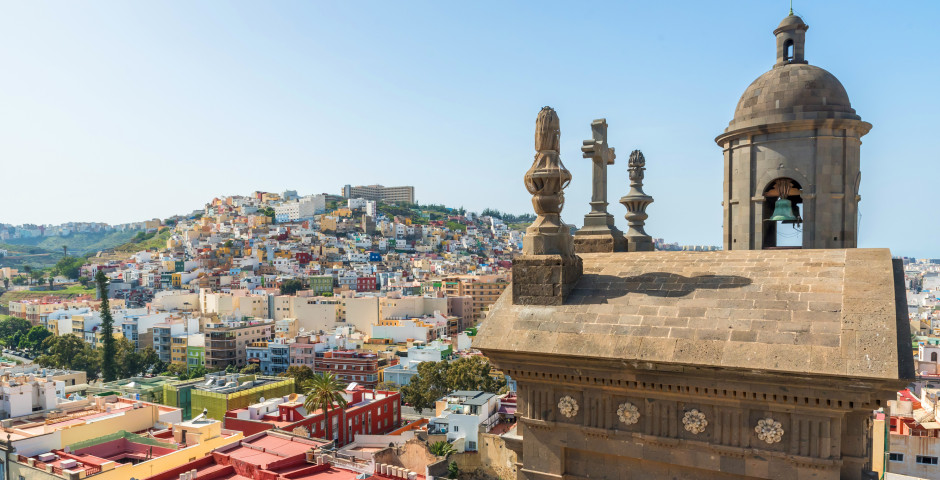 Blick auf die historische Stadt - Las Palmas de Gran Canaria