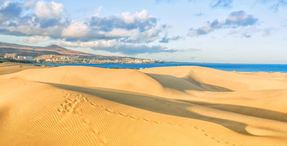 Blick auf die Dünen von Maspalomas bis nach Playa del Ingles - Maspalomas