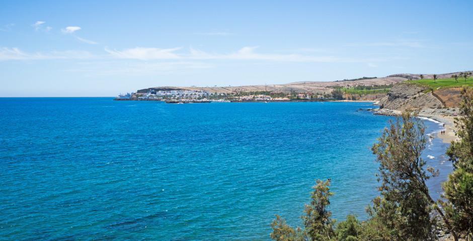 Schöner Ausblick bis zum Jachthafen Pasito Blanco - Meloneras