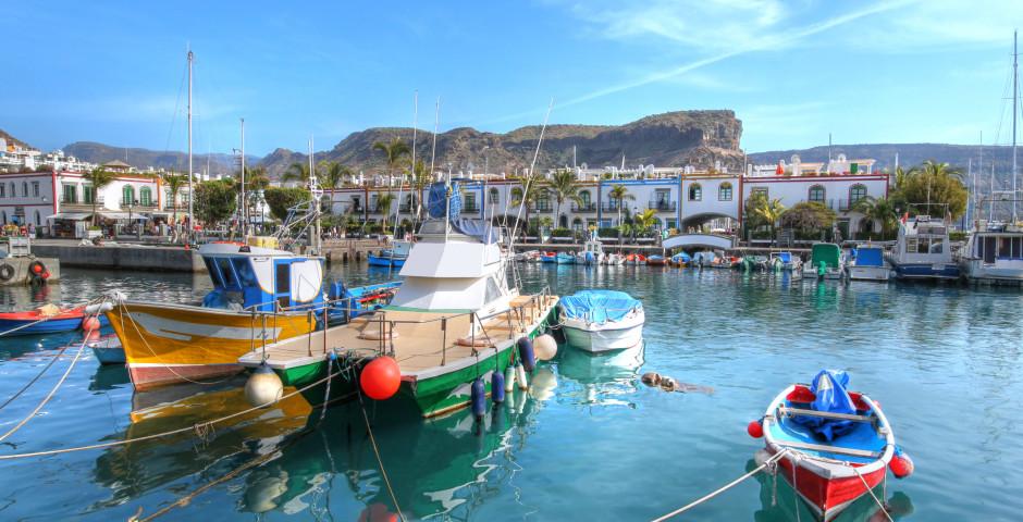 Boote im Hafen - Puerto de Mogan