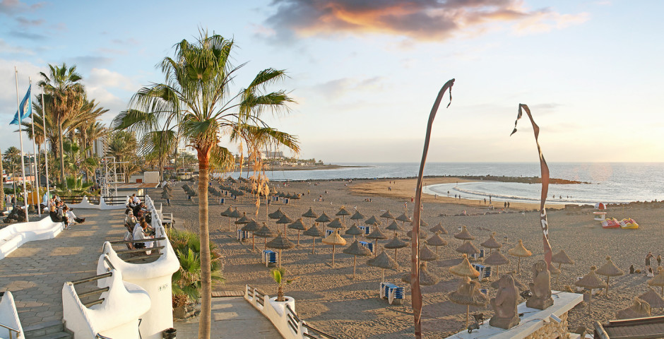 Herrlicher Sandstrand Playa del Troya - Playa de las Americas