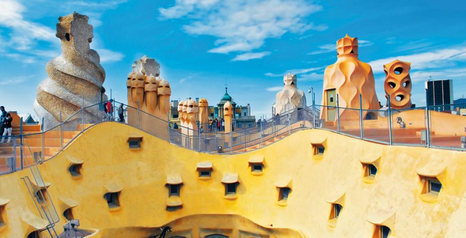 Staunen in Barcelona, Gaudi, Casa La Pedrera - Barcelona