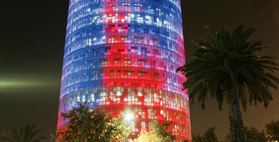 UFO in Barcelona, Torre Agbar von Jean Nouvel - Barcelona